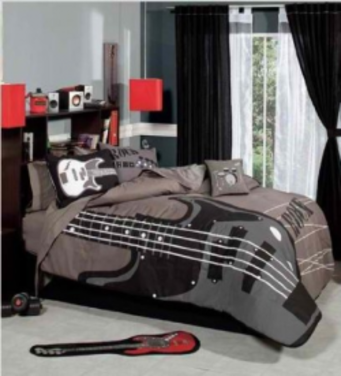Decoration Theme Guitare : Rock n roll bedroom décor ideas hubpages