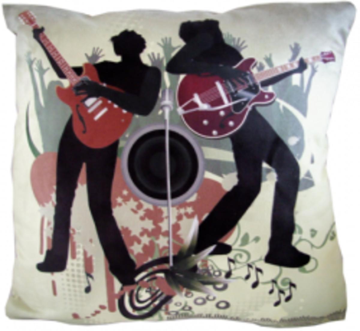 Rock Band Luxury Pillow