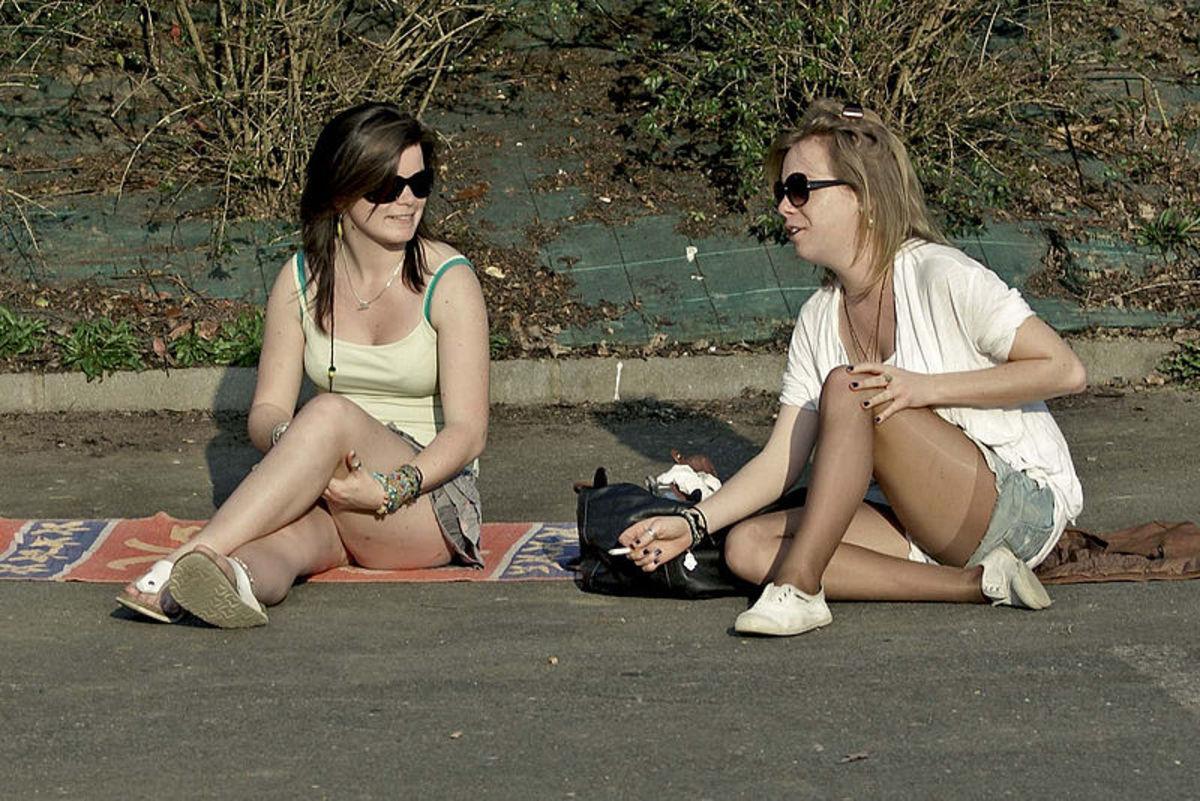 Teenage Girls Chatting