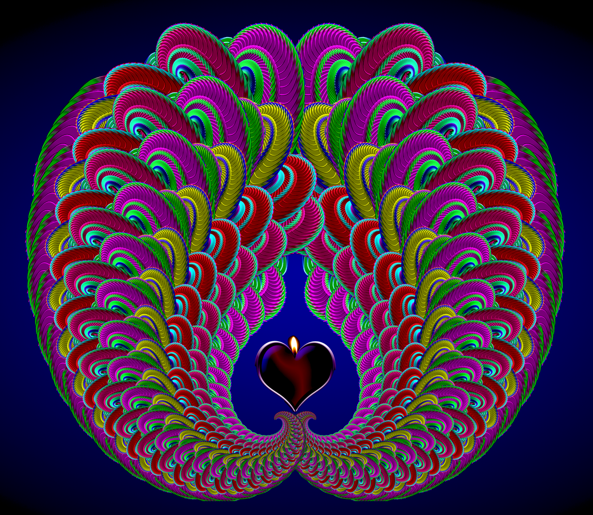 How to Draw Peacock Fractal Patterns with Photoshop