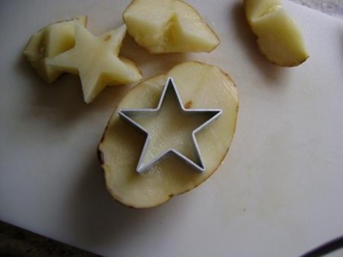 Use cookie cutters to shape perfect shapes.