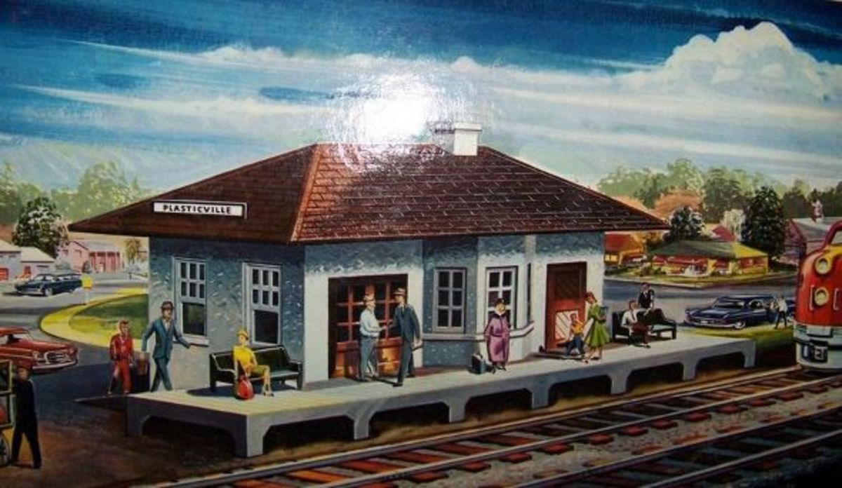 Plasticville O/S Scale passenger station