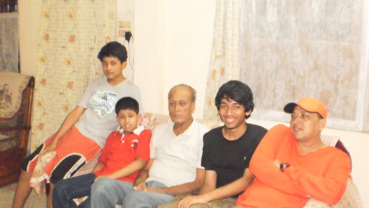 Neep ( nephew), Reet, Deta, Deep ( nephew) and Apurba during 2011