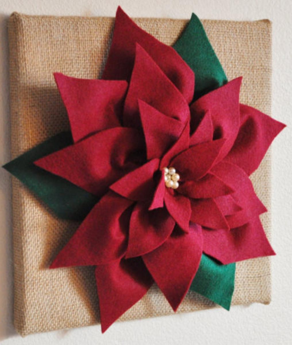 Make a Poinsettia to Wear