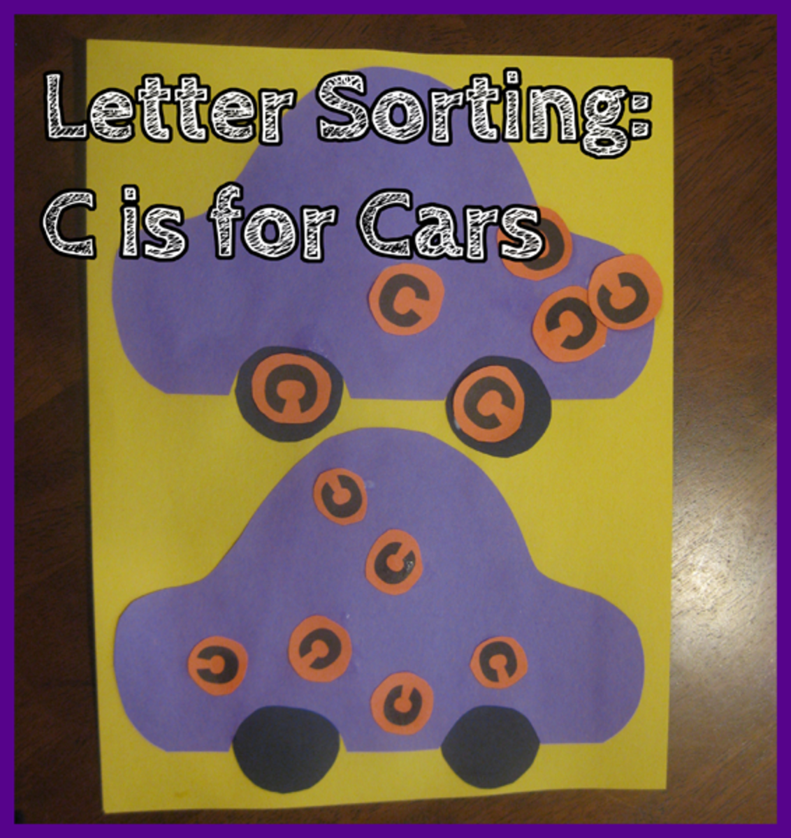 Letter Sorting C is for Cars
