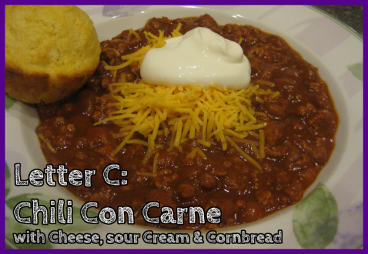 Letter C Chili Con Carne