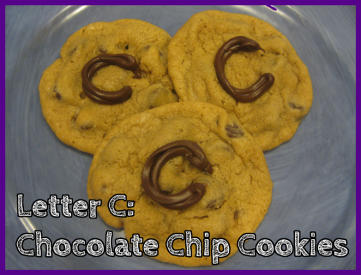 Letter C Chocolate Chip Cookies