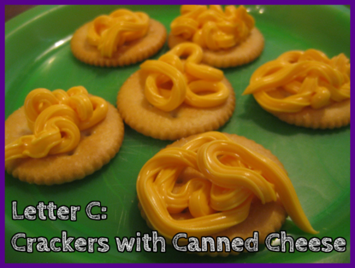 Letter C Crackers with Canned Cheese