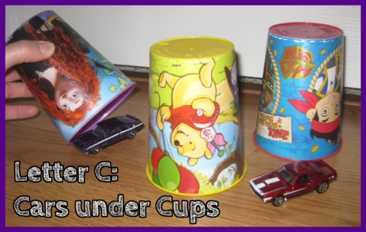 Letter C Cars under Cups