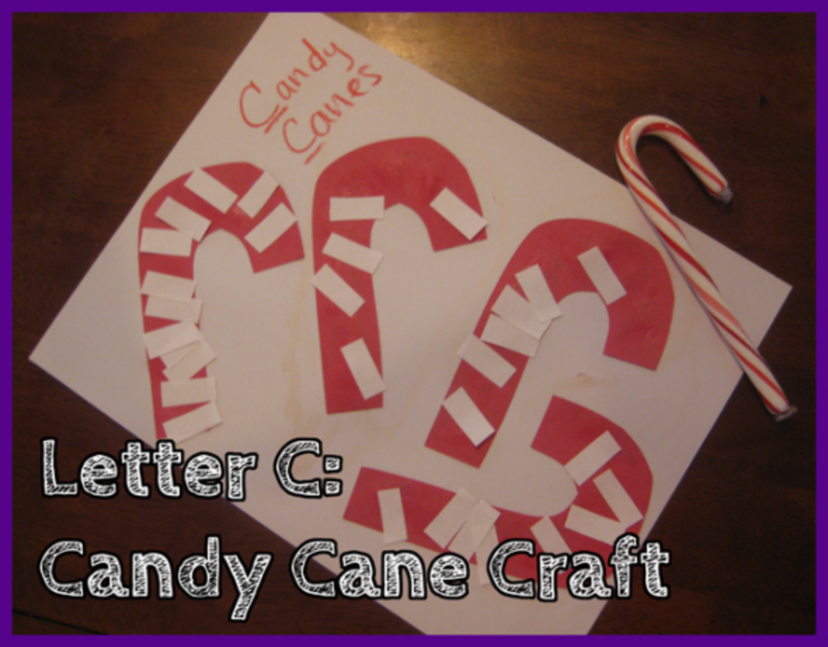 Letter C Candy Cane Craft