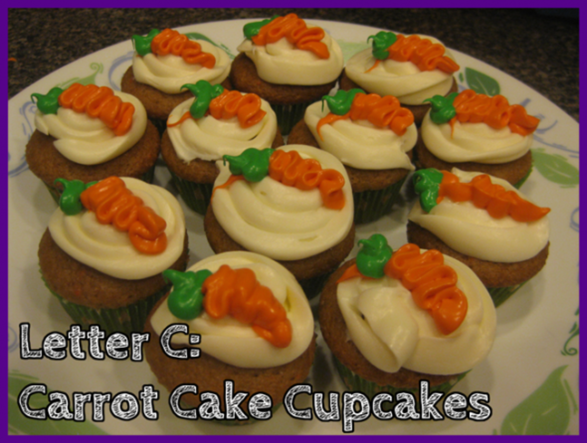 Letter C Carrot Cake Cupcakes