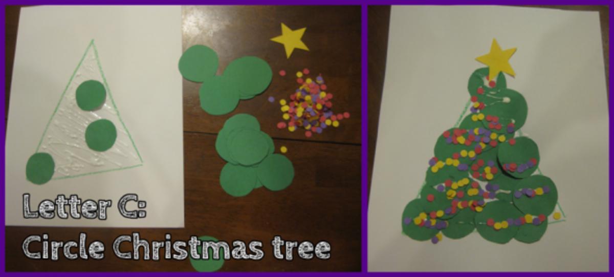 Letter C Circle Christmas Tree
