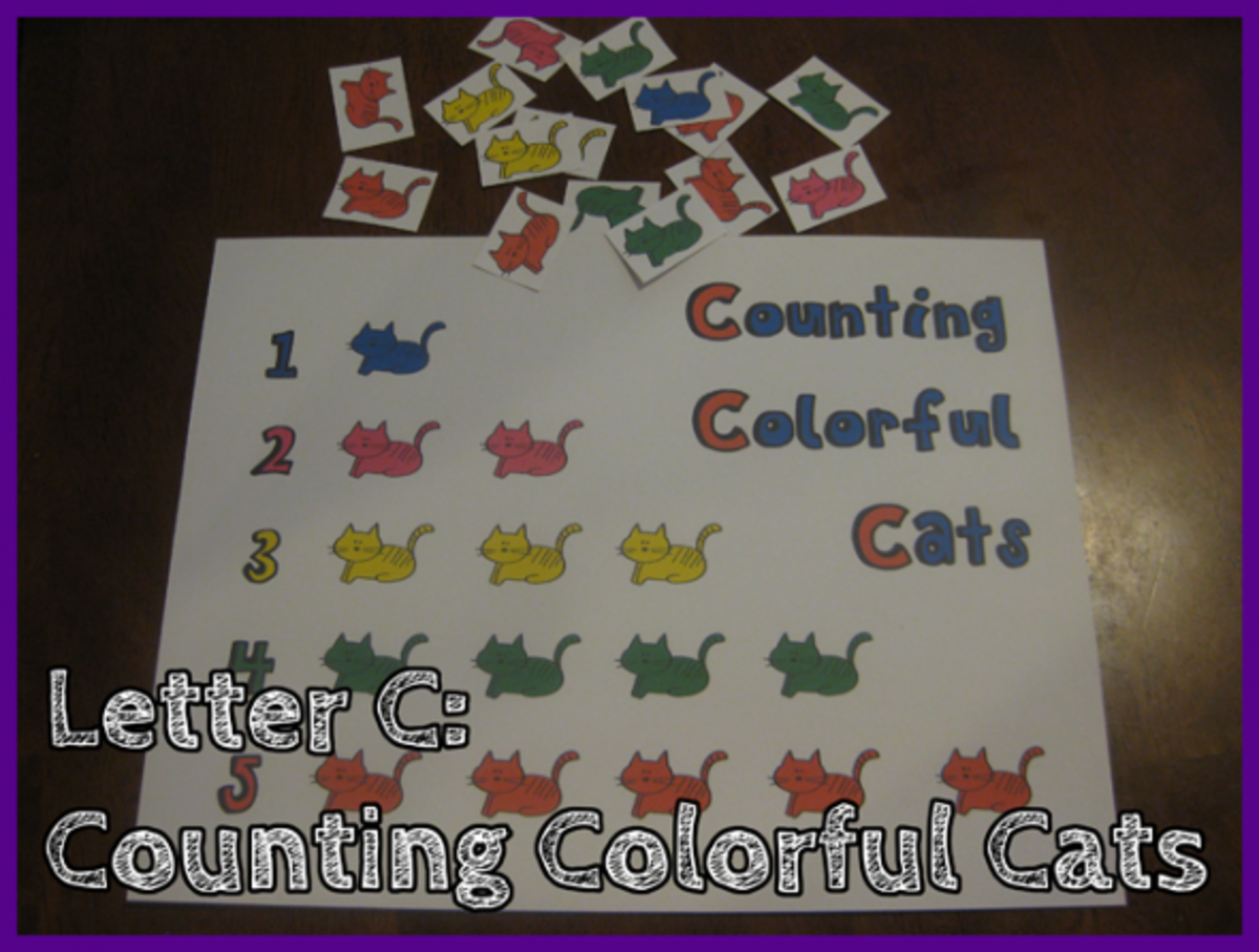 Letter C Counting Colorful Cats