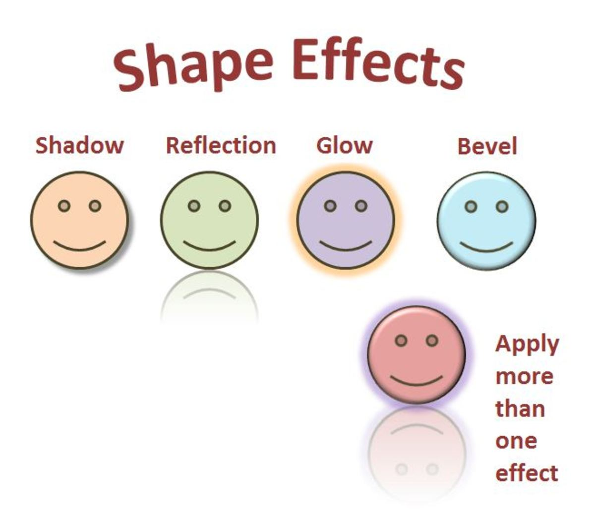"""Shape Effects"" (Shadow, Reflection, Glow and Bevel) will set-off a graphic. You can even use more than one of them at a time."
