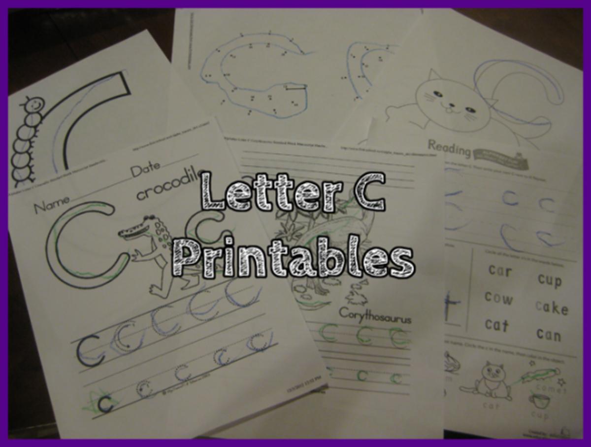 Letter C Printables