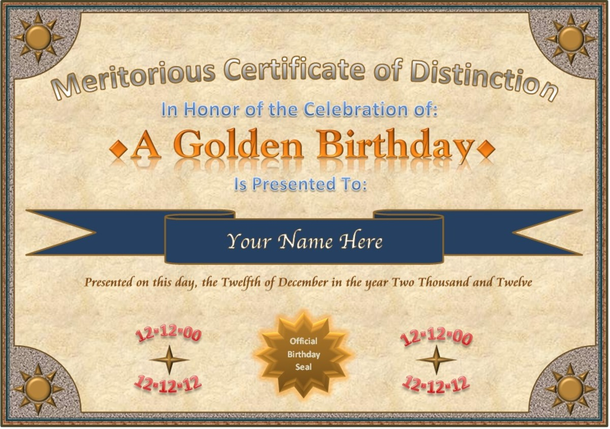 "The ""Certificate"" was created in Word using shapes and text boxes. A series of rectangular shapes (with fill) make the border. Text boxes and other shapes are placed on top of the rectangular border shapes."