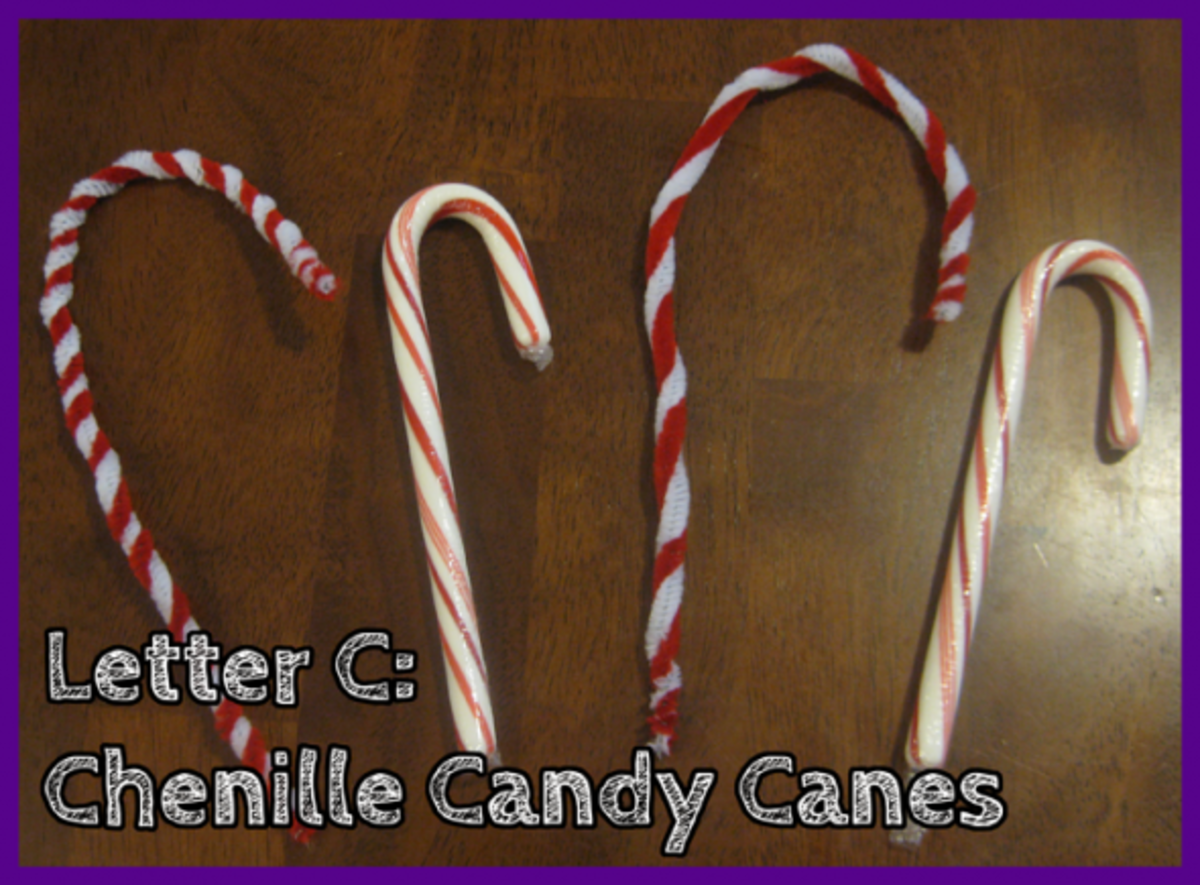 Letter C Chenille Candy Canes