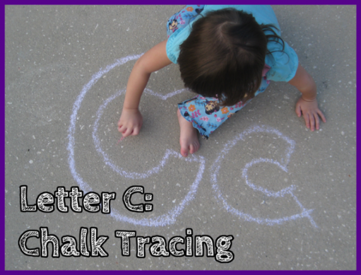 Letter C Chalk Tracing