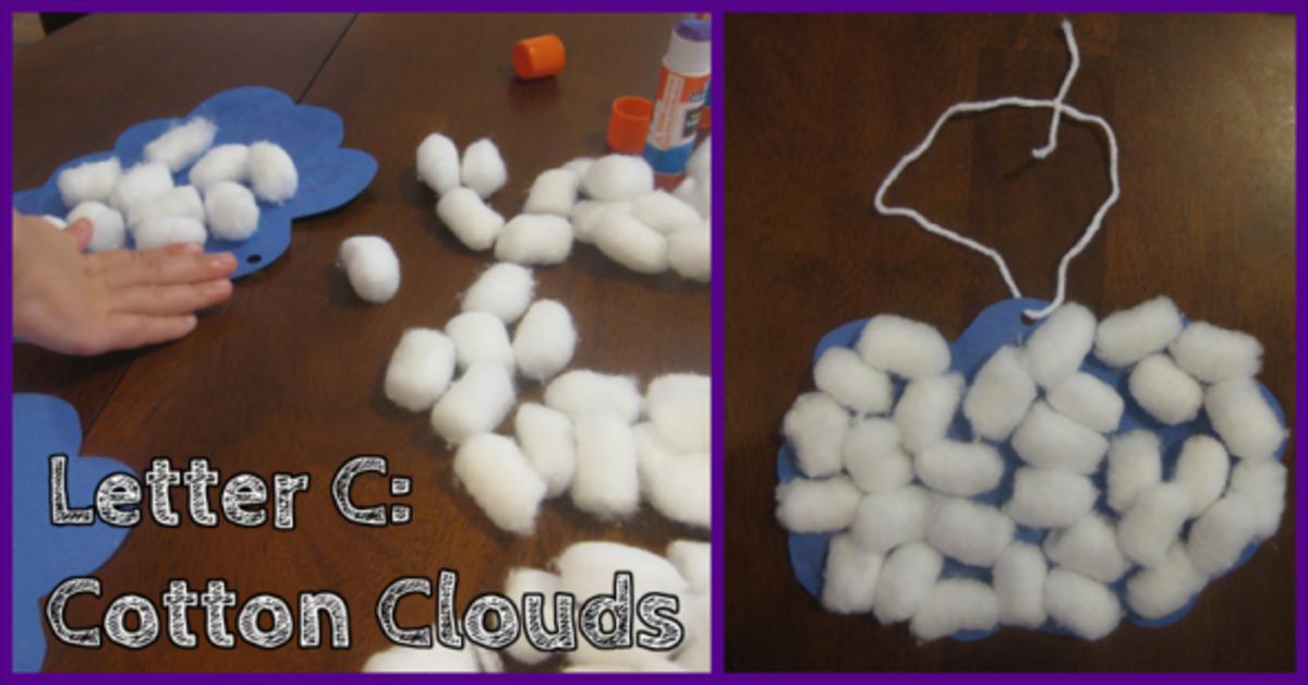 Letter C Cotton Clouds