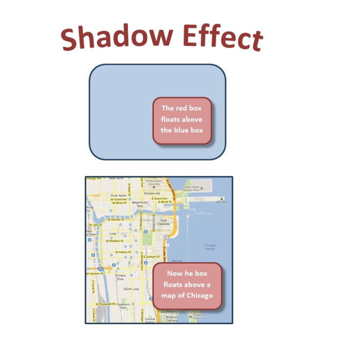 "Adding the ""Shape Effect"" called ""Shadow"" can make an image appear to float."