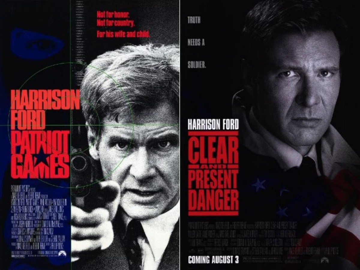 Harrison Ford as Jack Ryan in Patriot Games & Clear and Present Danger Movie Posters