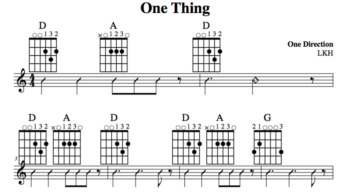 beginner-guitar-one-thing-one-direction