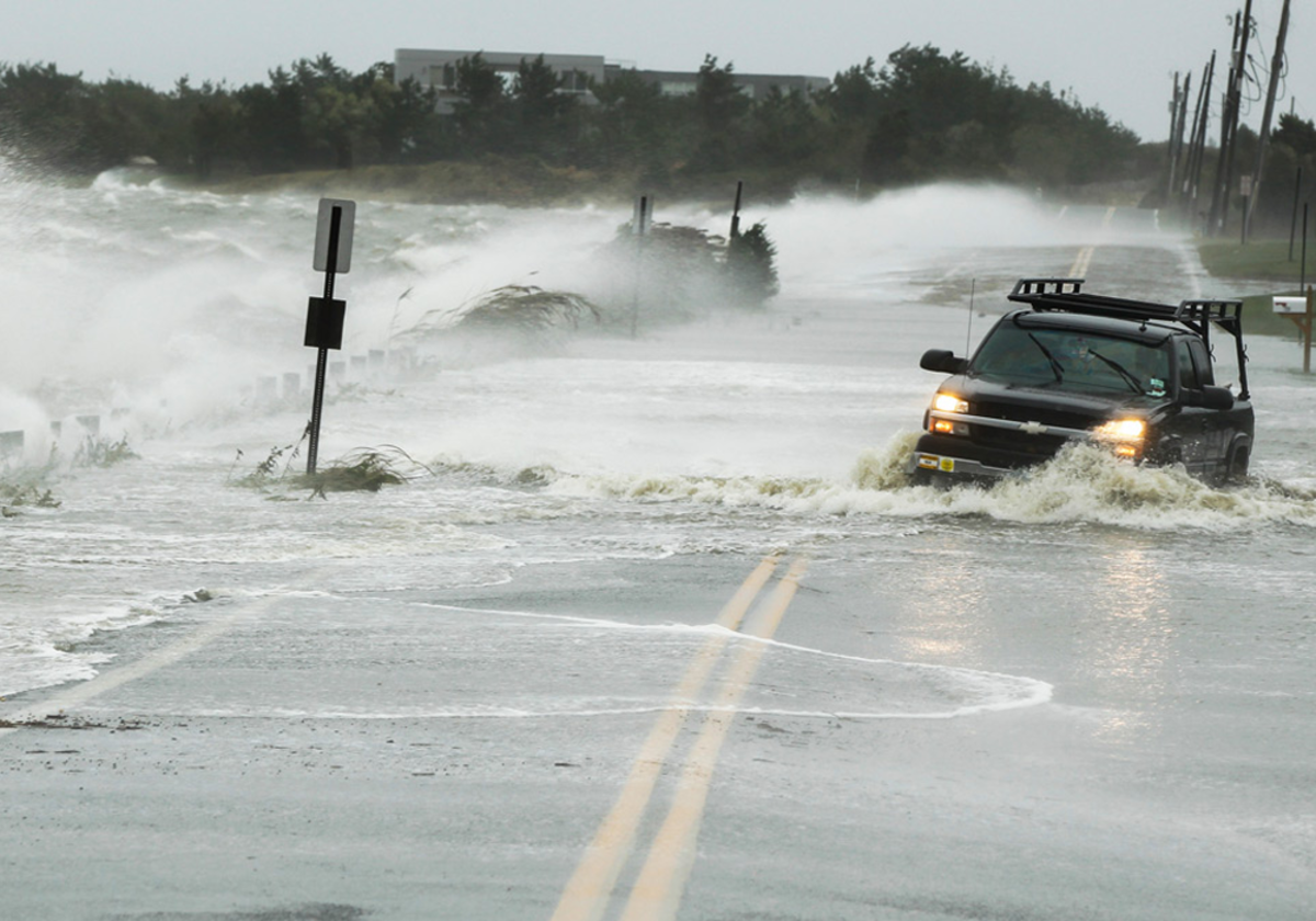 Cars washed away due to Sandy's immense destructive force.