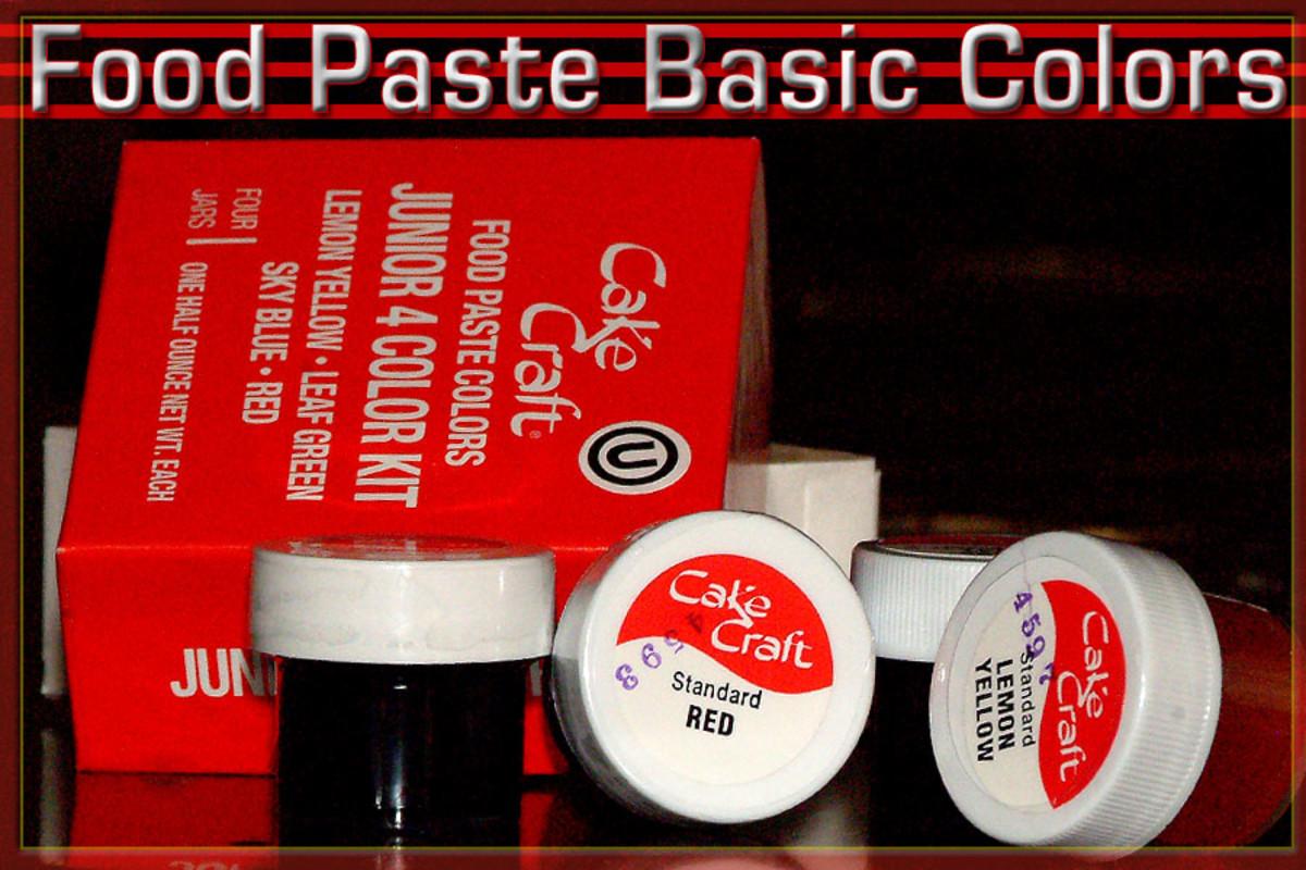 Food Paste Colors work best for bright fondant coloration.