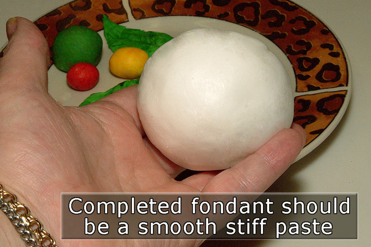 Smooth stiff fondant is great to color and use in many dessert decorating applications.