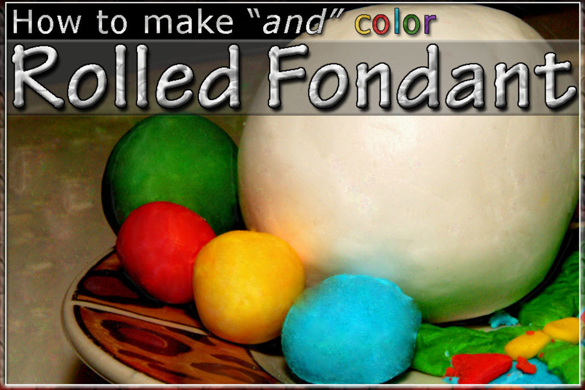 How To Make And Color Homemade Rolled Fondant