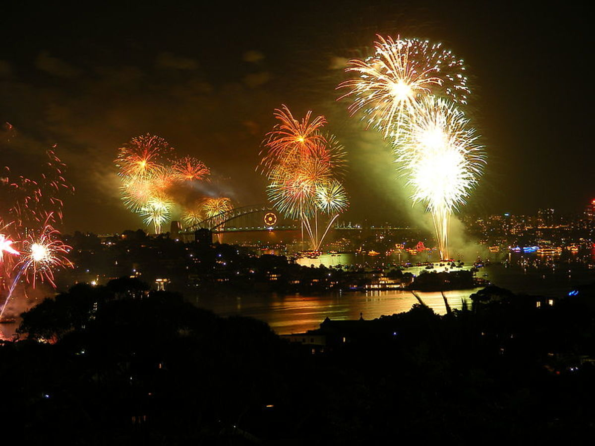 New Year's Eve fireworks display in Sydney, Australia