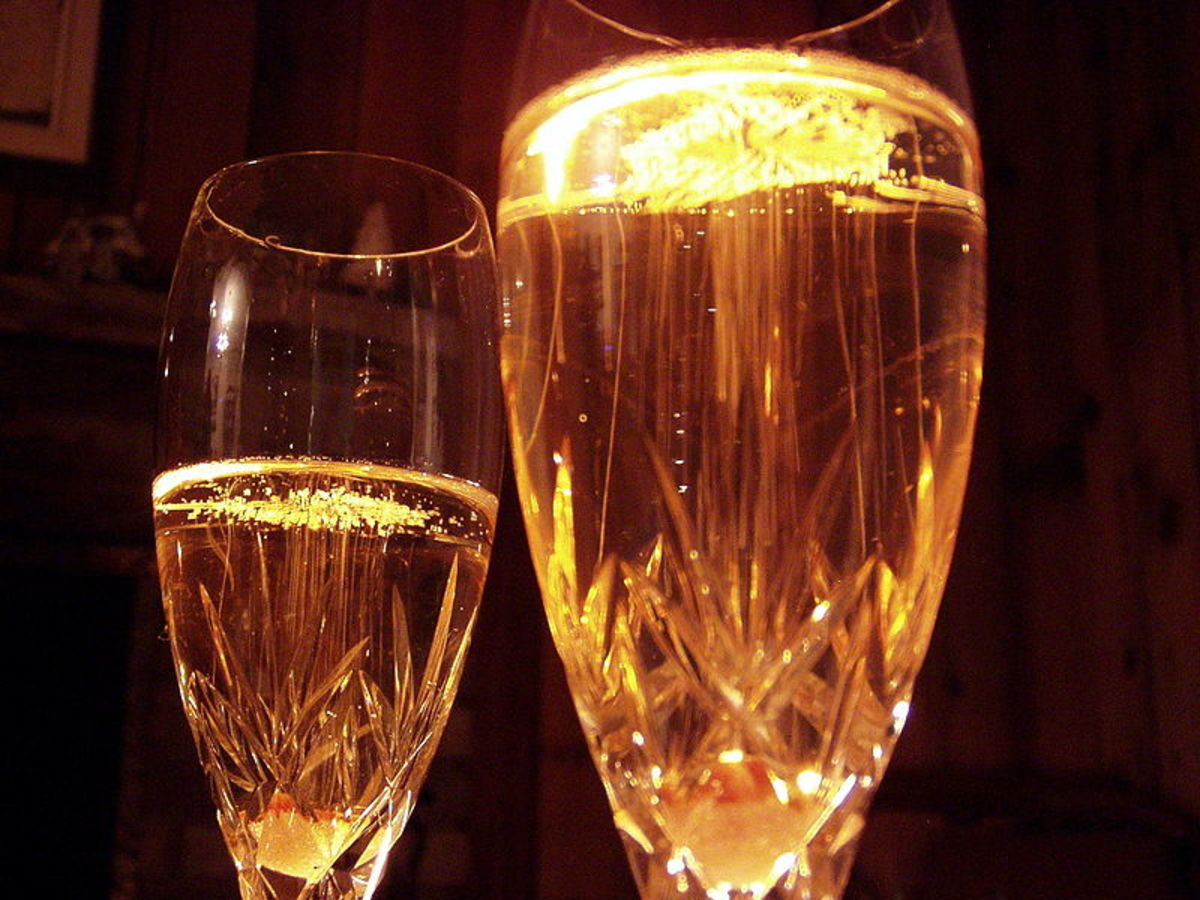 A Midnight toast with Champagne
