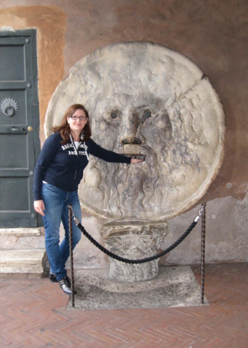 Me at the Bocca della Verita'