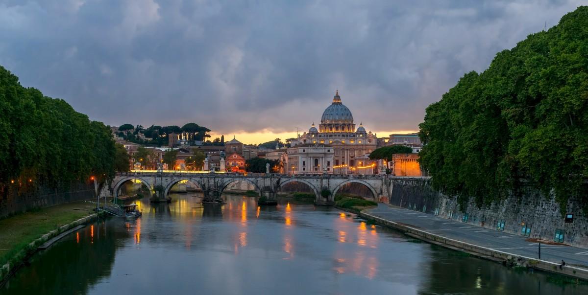 Sant'Angelo Bridge in Rome, Italy