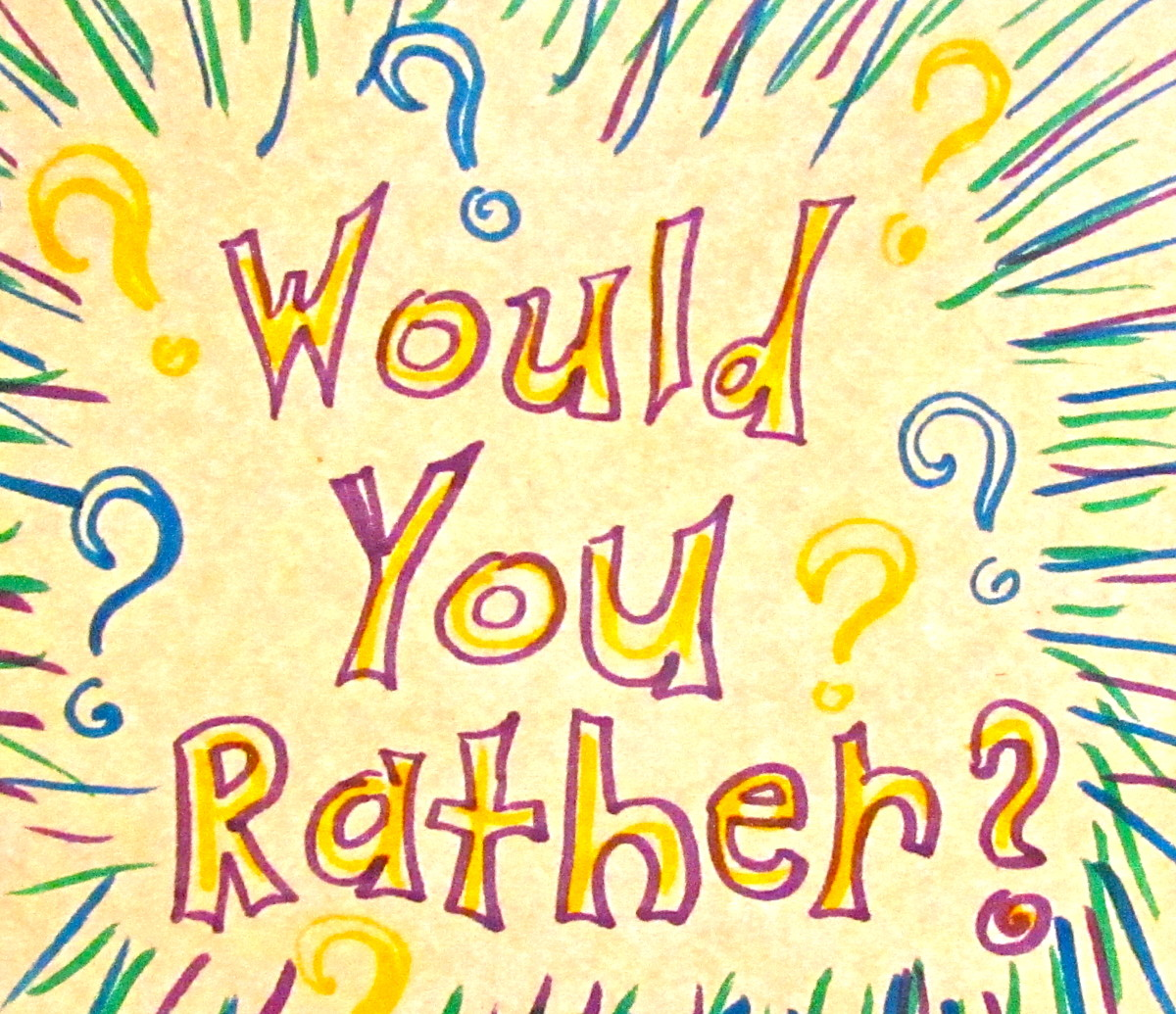 Would You Rather?: ESL or EFL Class Activities and Thought Questions - Make Grammar Fun!