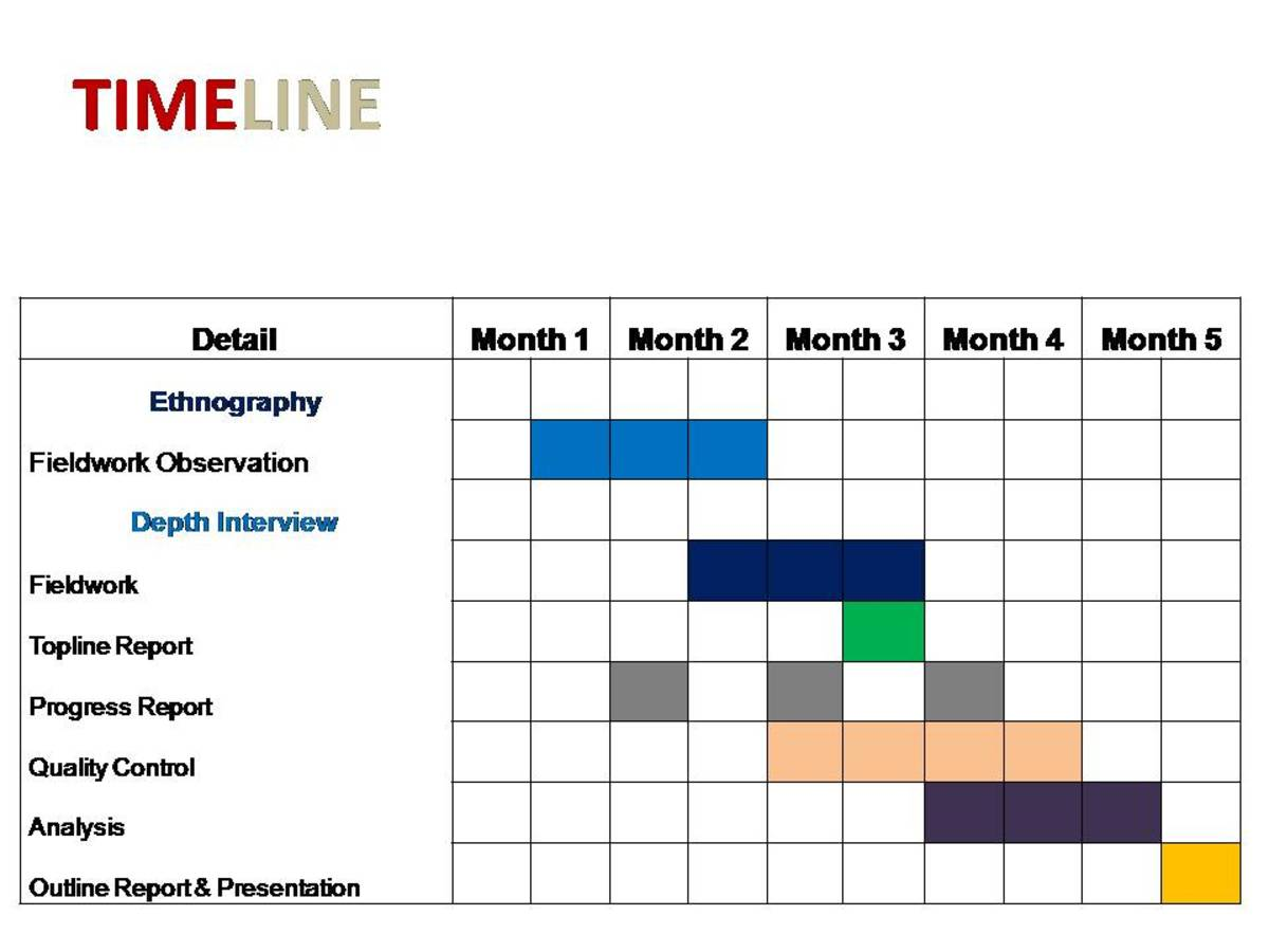 Example of Social Science Research Proposal – Sample Marketing Timeline