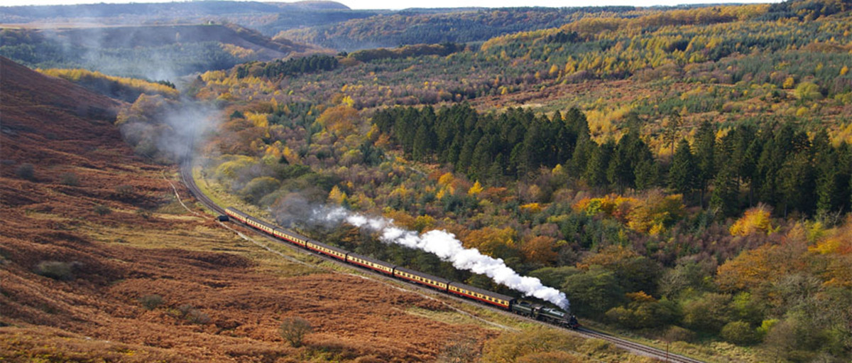 The North Yorkshire Moors Railway near Levisham, seen here at Newtondale - crossing point near Fylingdales, almost there!