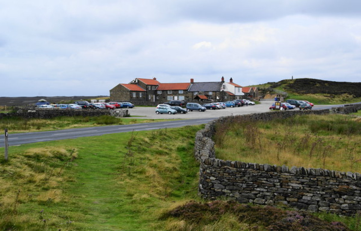 The Lion Inn, Blakey Rigg, North Yorkshire Moors on the Lyke Wake route and beside the Kirkbymoorside to Castleton road.