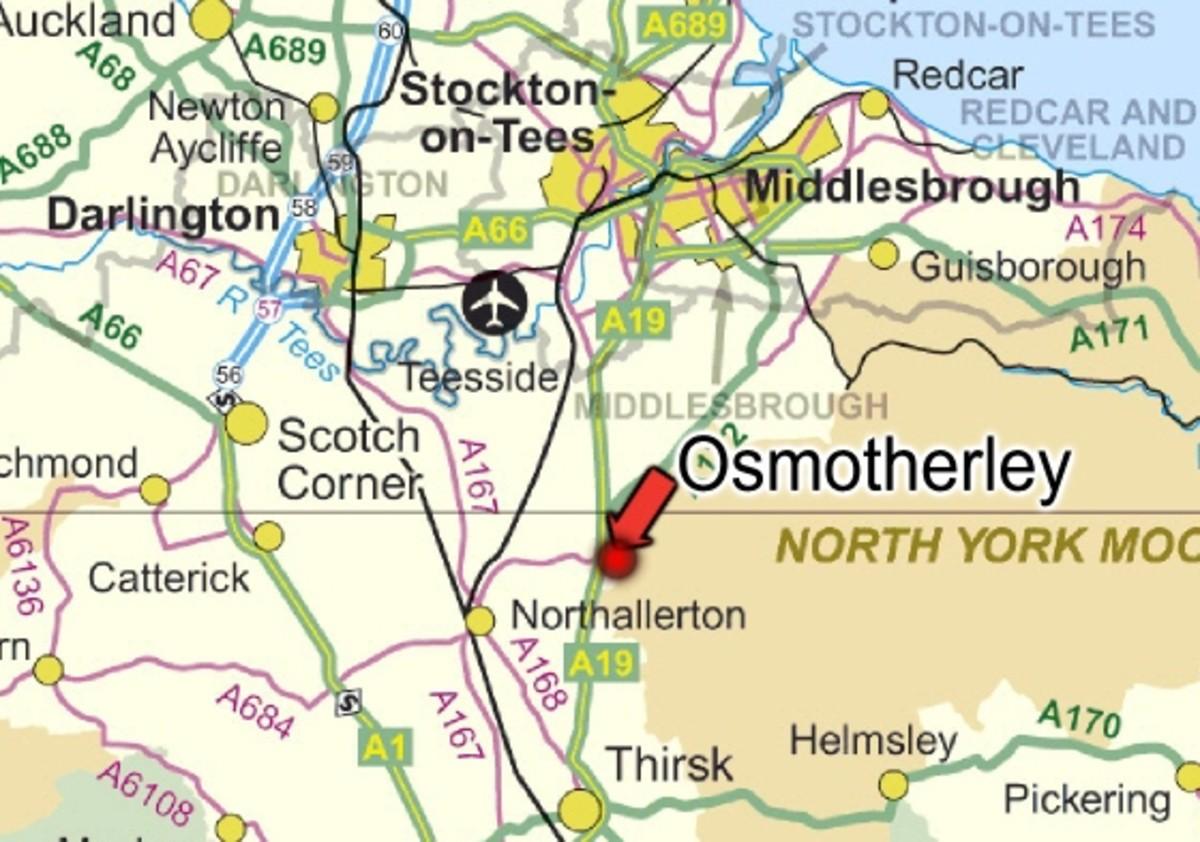 Osmotherley's easily reached. The A19 is near for bus links (Northallerton to the west, Middlesbrough north-east), There's an airport on the edge of Teesside and Darlington's near for Intercity links. Trains from York/Darlington stop at Northallerton