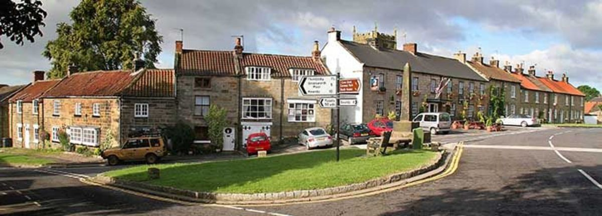 Osmotherley village, starting point for the Lyke Wake Walk and staging point for the Cleveland Way from Helmsley around the north side of the Moors to the Coast