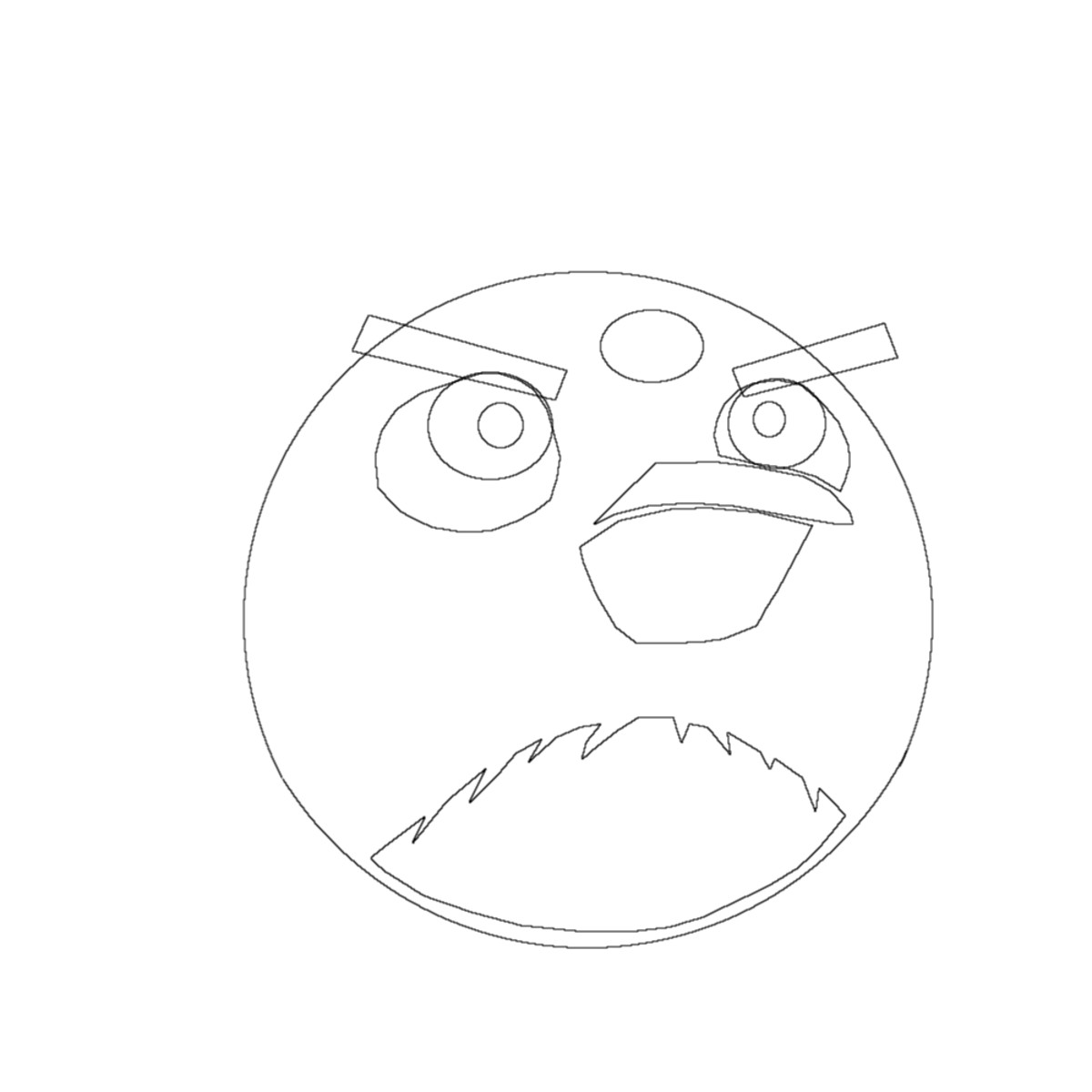 How to draw angry birds finishing touches.