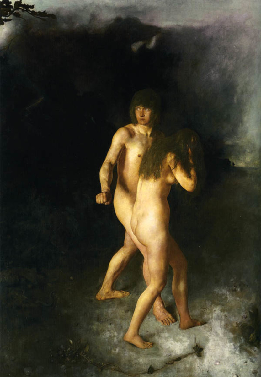 Hans Heyerdahl (1857-1913), Adam and Eve.