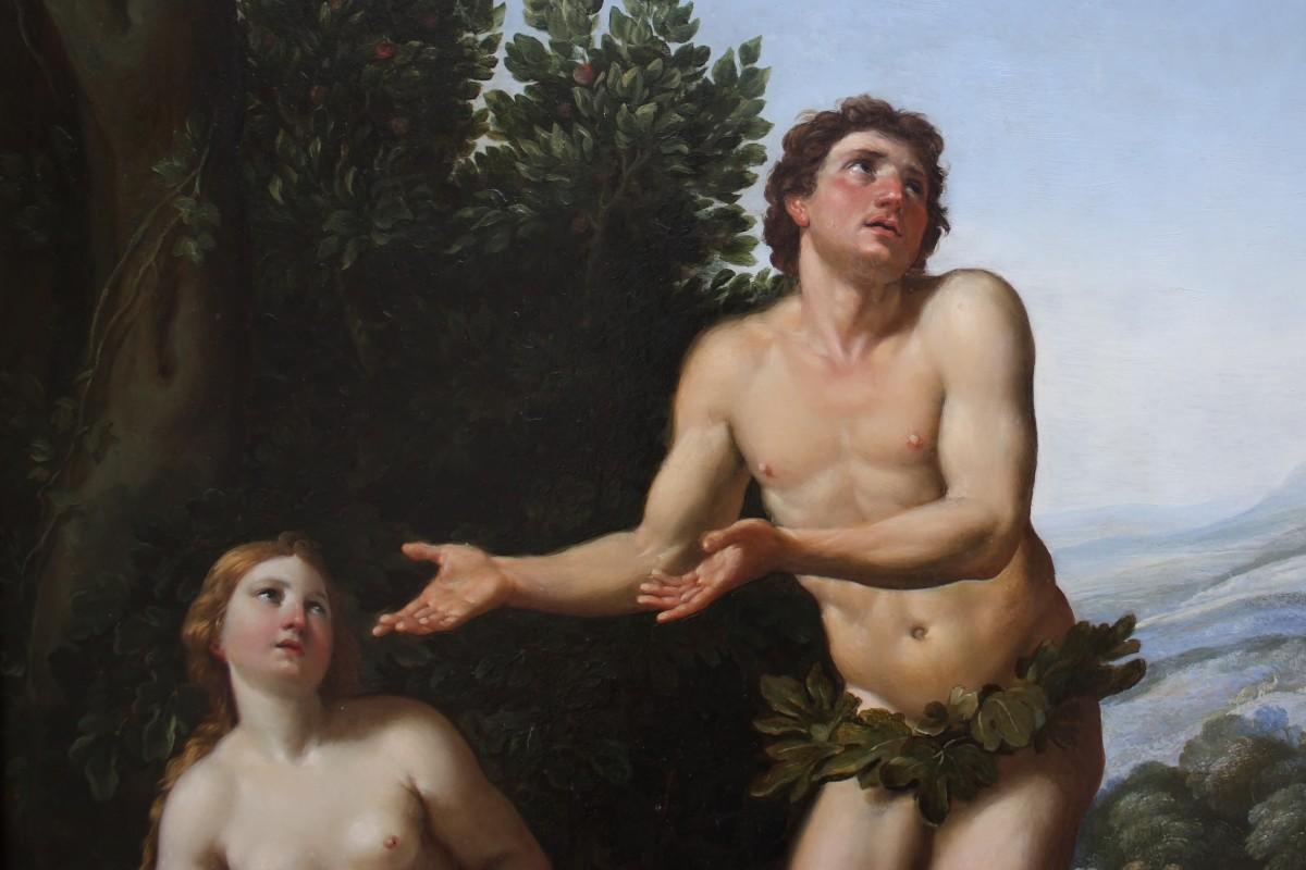 Dieu réprimandant Adam et Ève (détail)--God admonishing Adam and Eve (detail).