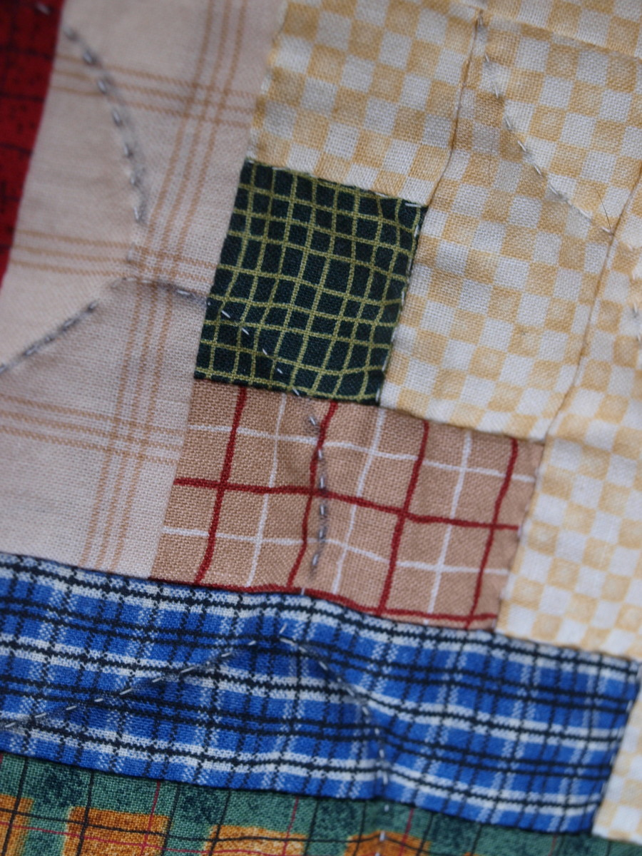 The wrong marking tool was used to mark this quilt.  The stains will never come out.