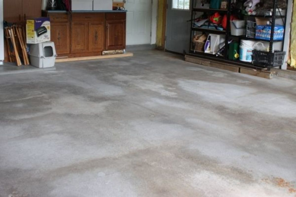 The low cost secret to cleaning your concrete garage floor for Garage floor maintenance