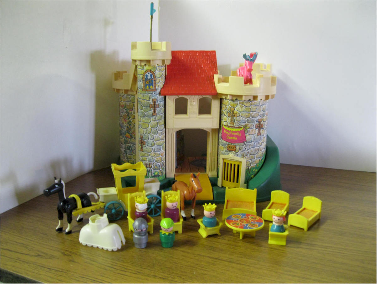 Inside the box, the whole play set
