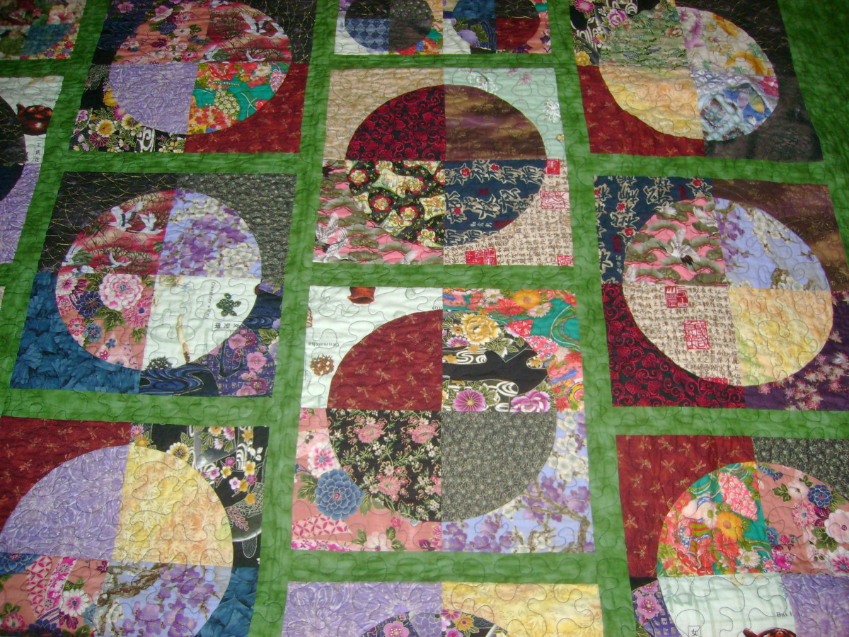 This quilt was made using a variety of Fat Quarters