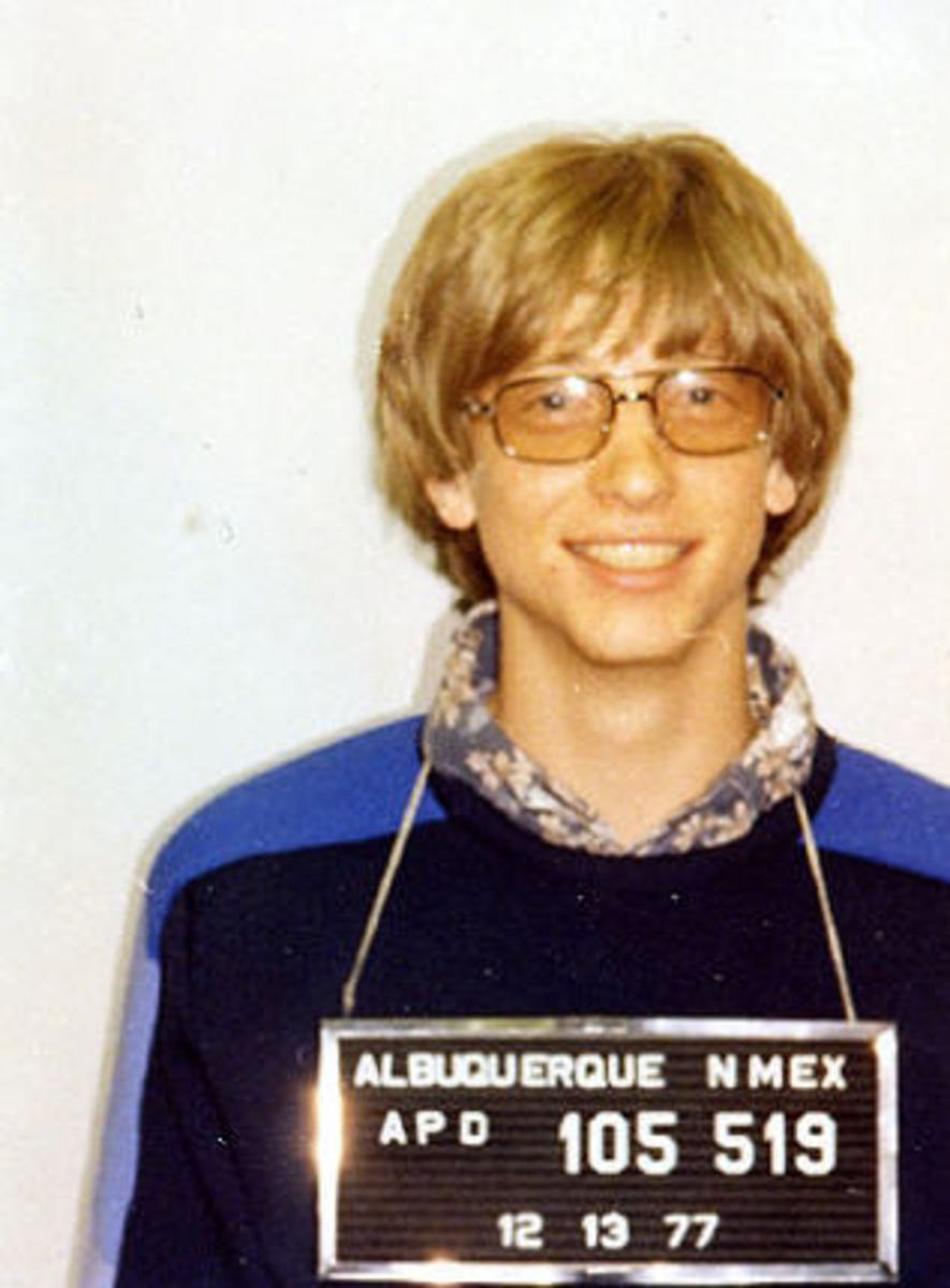 Gates in 1977 after being arrested