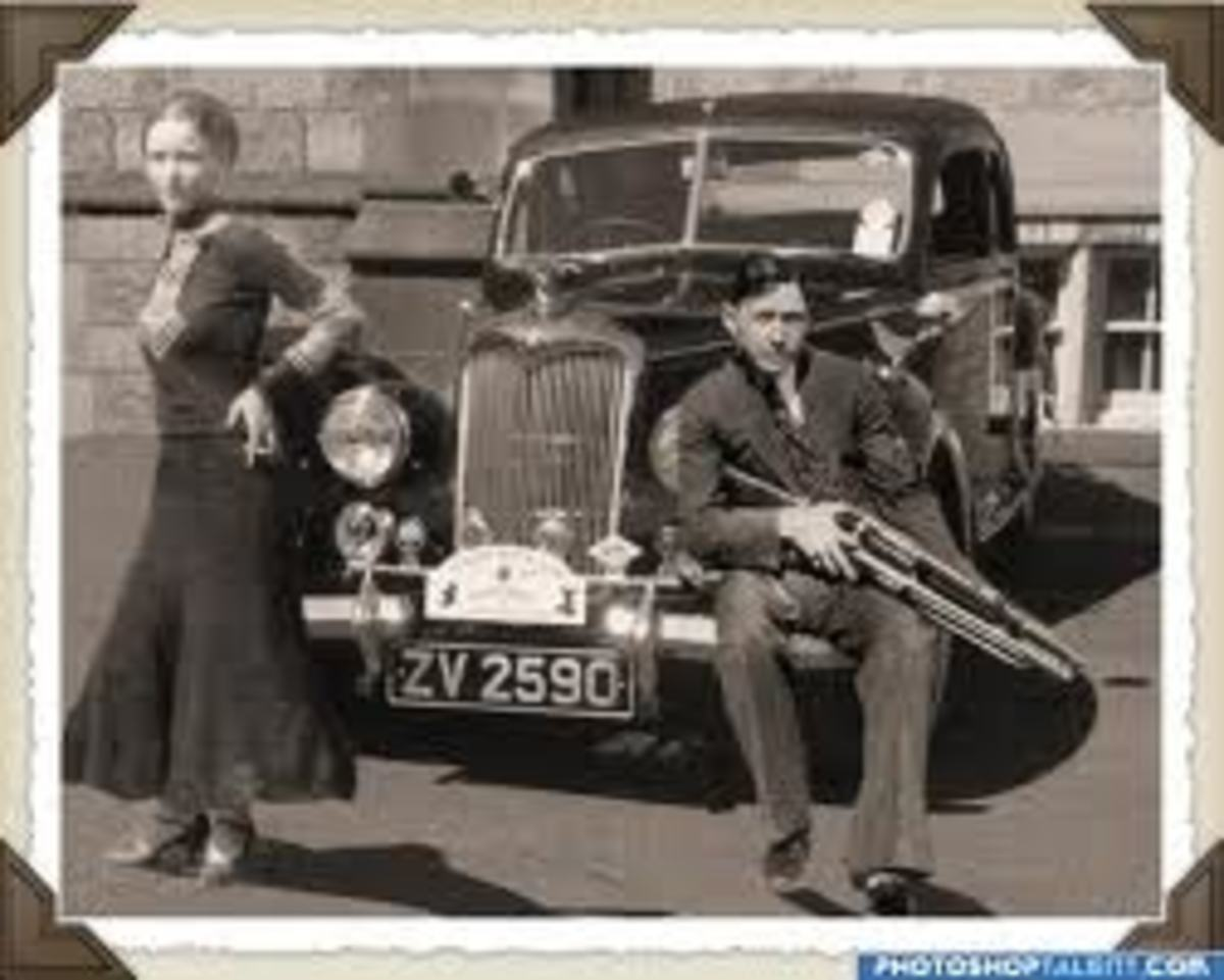 Bonnie and Clyde with the current Ford V-8