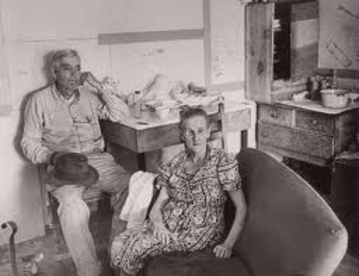 Henry and Cumie Barrow, parents of Clyde Barrow